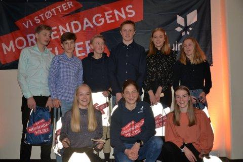 Telemark og Vestfold skikrets to lag under helgas ungdomsstafett. Her med Astrid Uhrenholdt Jacobsen.