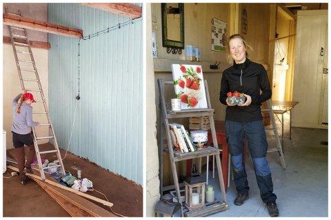 HAR UTVIDET: Berger Gård får større gårdsbutikk. Her ved Linda Berg.