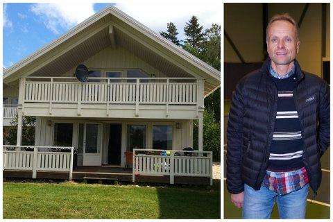 Hytta i Sverige er på 110 kvadratmeter. Audun Kleven og familien håper grensene mot Sverige åpnes, så de får dratt på hytta igjen.