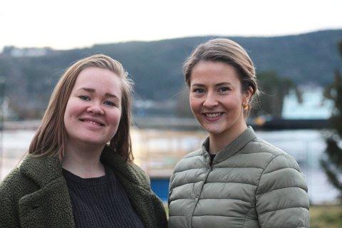 Ansvarlig redaktør og daglig leder Ine-Elise Høiby og Guro Haverstad Torgersen i Svelviksposten.