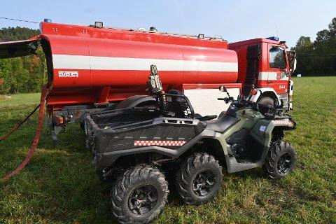 Mjøndalens brannvesen bisto i skogbrannen på Berger. Store deler av årsaken var denne ATV-en.