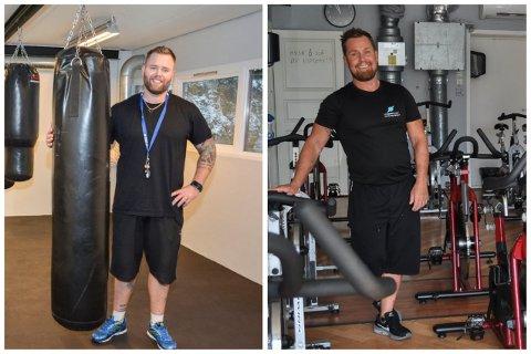 Lars Michelsen (t.v) ved Svelvik Treningssenter og Morten Bredesen ved Fitnessplanet merker at det blir mindre og mindre penger i kassa. Nå håper de å få åpne igjen – i hvert fall delvis.