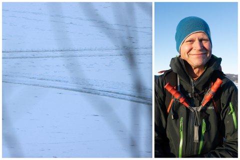 Kjetil Melvold i NVE fraråder folk å kjøre på isen, selv om den kan være trygg.