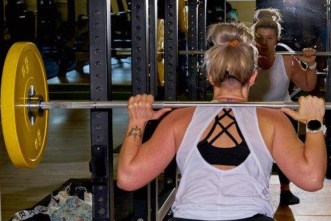 Tine Greiner-Lutnes var nesten litt nervøs da hun gikk inn dørene på Svelvik treningssenter, onsdag.