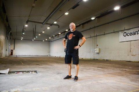 Egil Hilde, daglig leder i Haandbryggeriene. Her i lokalene på Tangen før produksjonen her var i gang.
