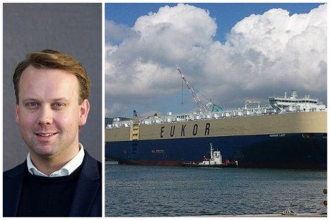 Øyvind L. Knudsen i Hyundai Norge forteller at det er stor interesse blant bilentusiaster for Morning Lady og dens last.