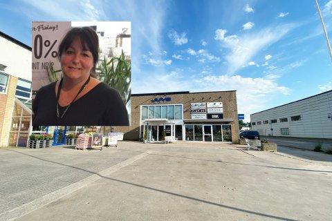 Anne Gry Mandt Pettersen fra Floriss forteller at de snart flytter butikken ut fra Juve Næringspark.
