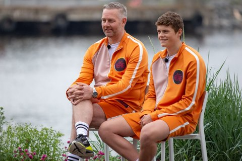 FAR OG SØNN: Henrik (17) og Frode Hagen (46) har fått rollene snudd under TV-innspilling.