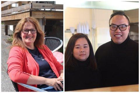 Nina Christensen fra Dreggen og Hoang Le (33) og kona Trang Huyen Thi Thach