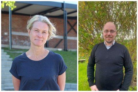 Bente Hauglin Liang og Kim Flemmos er rektorene på henholdsvis Tangen og Tømmerås skole.