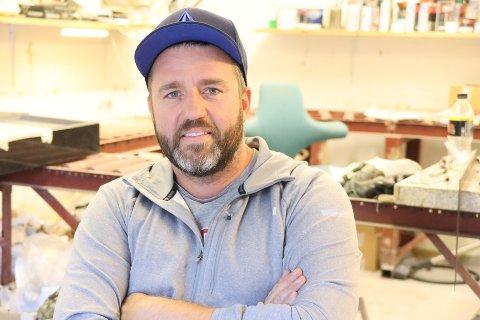 Stig Magnus Nilsen driver Stein 1 AS og har mye å gjøre om dagen.