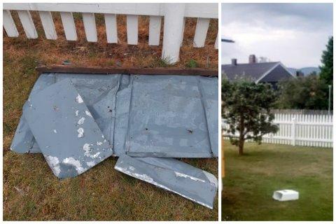 Disse postkassene havnet i hagen til en svelviking. Til venstre de som havnet der i helga, til høyre den som ble kastet inn i sommer.