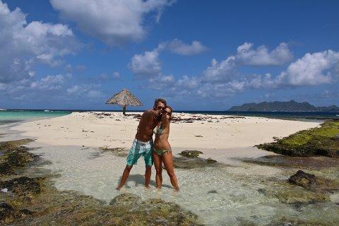 VI TRENGER DEG: Snorre Føreland og forloveden Ingunn Narverud søker mannskap til turen over Atlanterhavet.