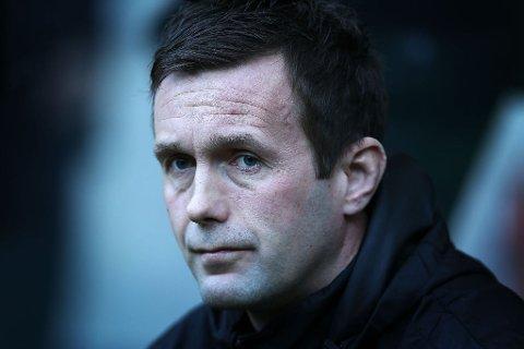 UTE: Ronny Deila og Celtic ble søndag ettermiddag slått ut av semifinalen i den skotske cupen.
