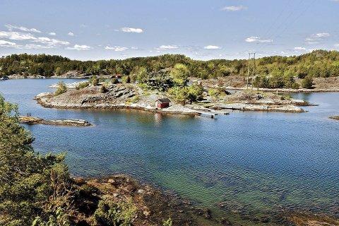 LØVSALEN: Den seks mål store øya ved Gumøy i Kragerø har en prisantydning på 12,5 millioner kroner.