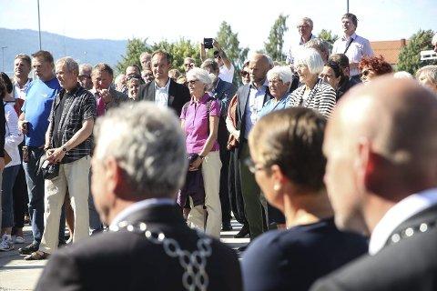 Oppmøte: En rekke prominente gjester hadde blitt invitert for å feire verdensarvstatusen.