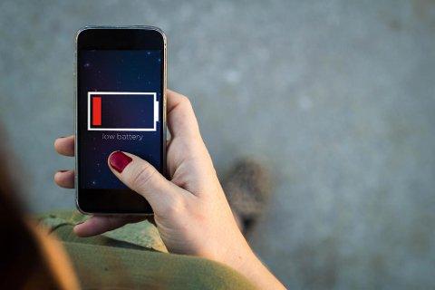 GRRRR - lite batteri er et enda større problem i kulda. Foto: iStock/illustrasjon