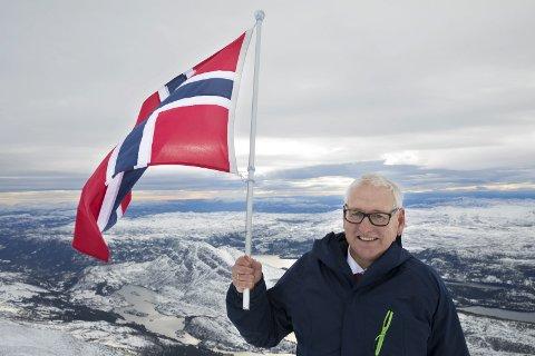 Lansert: Her på Gaustatoppen i spektakulære omgivelser presenterte Jonny Pettersen og co. planene for OL i Telemark. Foto: Ole Berg-Rusten/ NTB scanpix