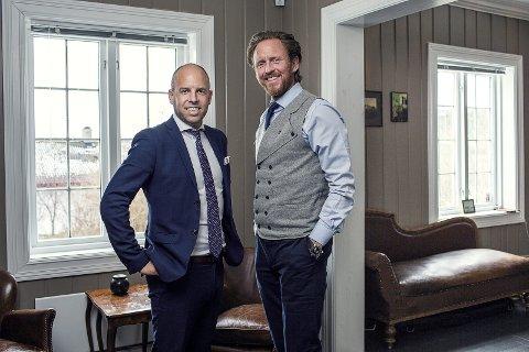 AKSJEKAMERATER: Emil Eriksrød i R8 og Christian Sønstebø i Sønstebø Gruppen sitter på store verdier.