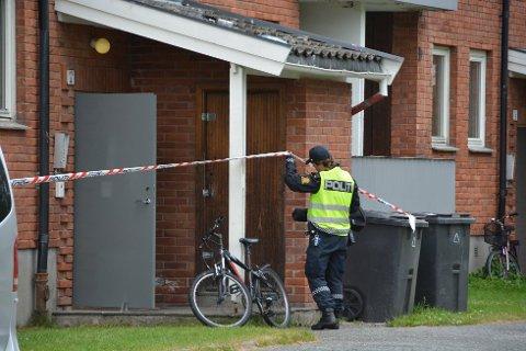 DRAPSSAK: Lørdag 8. juli ble en 37 år gammel mann funnet drept i Odins gate i Skien. Den drapssiktede sliter med rus og psykiske problemer.