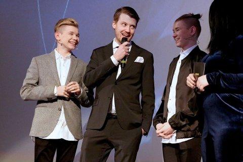 """PRISBELØNNET: Daniel Fahre og Fenomen fikk Folkets Amanda for """"Sammen om drømmen""""."""