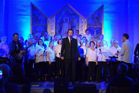 CONTO AMMONIA: Lokale kor skal være med på konsertene. Her er det Porsgrunnskoret Conto Ammonia som bidrar.