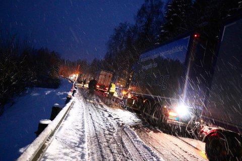 RUSKEVÆR: Flere fikk problemer i snøslapset.