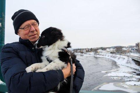 Med hunden i armene var Per Hynne klar til å hoppe i døden.