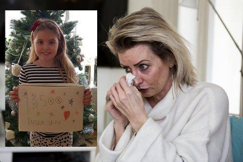 DRØM: Lykke (7) drømmer om den dagen mamma Marianne Fjeld skal bli frisk. Så langt har de fått inn 95 000 kroner til operasjon i Barcelona. Foto: Privat/Kristine Brandsdal Barane