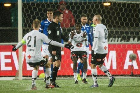 Odds Bilal Nije i eliteseriekampen i fotball mellom Odd og Haugesund på Skagerak Arena.