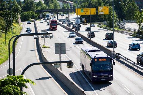 Ekspressbusstilbudet er svært viktig for reisende i distriktene, mener Sp. Nå er hele tilbudet i Norge under press. Foto: Berit Roald, NTB scanpix/ANB