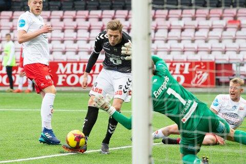 DAGENS MANN: Tobias Lauritsen scoret tre mål mot Bærum.