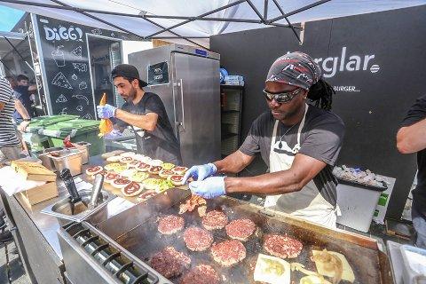 POPULÆRT INNSLAG: Burgerne på VM-torget ble meget populære. Foto: Per-Åge Eriksen