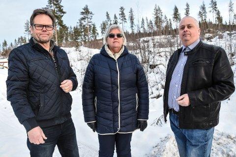 DRITTLUKT: Torgeir Ljosland, Grete Tovi Duesund og Terje Nyvoll i Notodden KrF vil bli kvitt drittlukta.