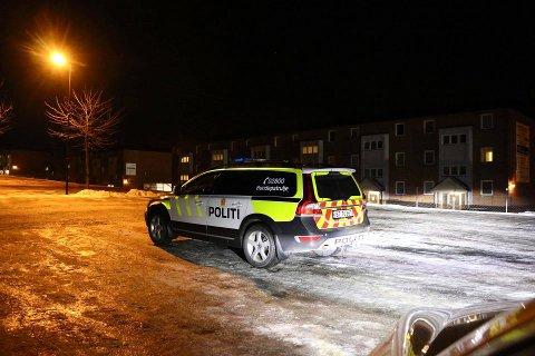 LETER: Politiet lette torsdag kveld i området ved sykehuset i Porsgrunn.