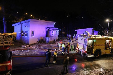 BRANN: 28-åringen er tiltalt for å ha satt fyr på blant annet denne boligen i Brevik i desember i fjor.