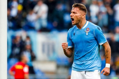 Vi tror at Lazio og Ciro Immobile sørger for en underholdende match på Sarbinia i kveld. (Angelo Carconi/ANSA via AP)