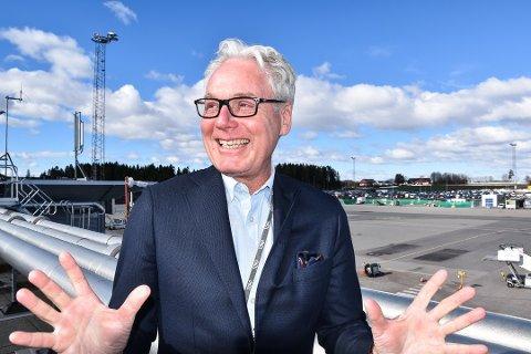 MILJØSATSING: Torp-sjef Gisle Skansen håper flyplassen kan bli landets første med elfly på kommersiell innenriksrute. Foto: Sonia Drivdal Patella