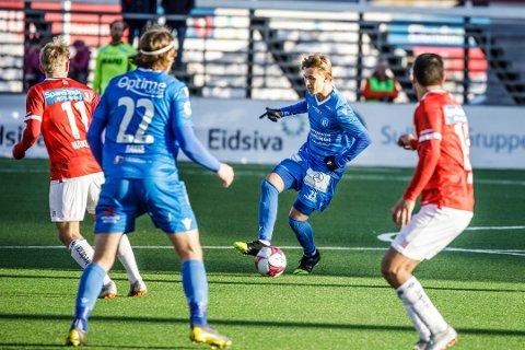 2-0: NFK ligger under 2-0 til pause borte mot Jerv. Her fra sesongåpningen borte mot Kongsvinger Foto: nyebilder.no