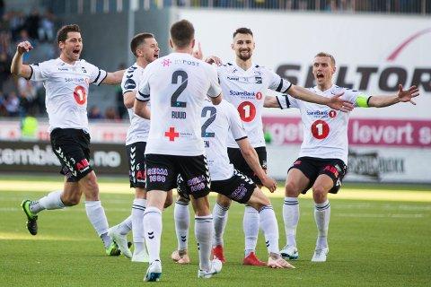 SCORET: Elba Rashani scoret for Odd. Foto: Trond Reidar Teigen / NTB scanpix