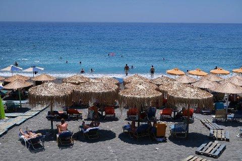 STOR INTERESSE: Kreta i Hellas er det mest populære reisemålet i utlandet blant nordmenn i år. Foto: Halvard Alvik (NTB scanpix)