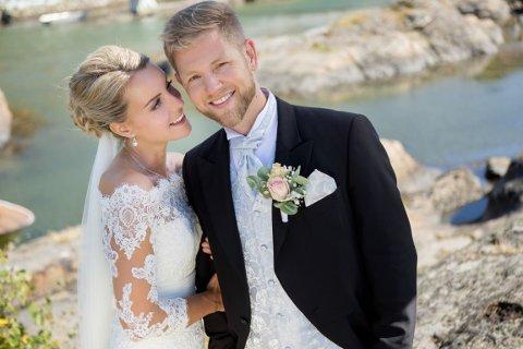 IKKE FORNØYD: Camilla og Marius Ørvik forteller om flere uheldige episoder under brullypsfesten på Langesund bad. Foto: Privat