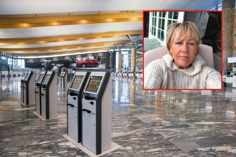 LURT: Trine Lise ble frastjålet passet sitt av det hun trodde var en behjelpelig kvinne i avgangshallen på Gardermoen Foto: Berit Roald / NTB Scanpix / Privat