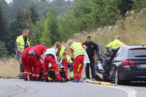 ULYKKEN: Richard A. Skaug ble vitne til at samboeren ble påkjørt av en bil på Helland forrige mandag. Nå forteller han om skrekkopplevelsen. Foto: Jarl Rehn-Erichsen