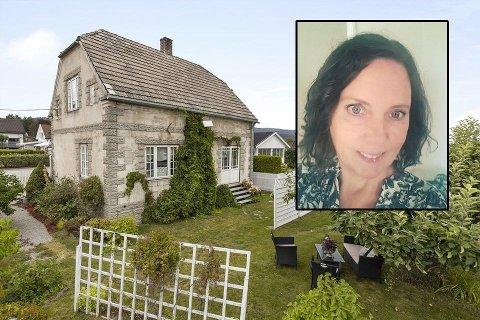 Tone Bakke selger huset i Lyngveien 2 med tungt hjerte. Foto: Eiendomsmegler1 / Normann Foto / Privat