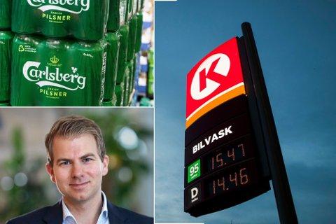 BEKYMRET: 9 av 10 bensinstasjoner frykter de blir slukt av dagligvarebransjen. Foto: Scanpix/Virke