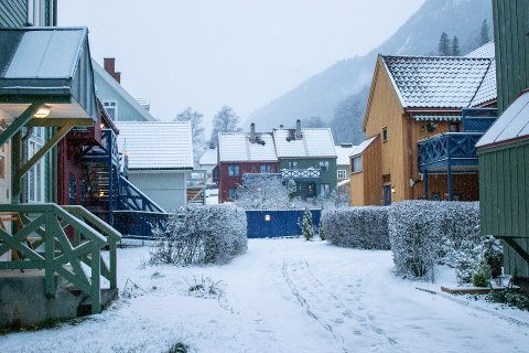 HVITT I HØYDEN: Meteorologen sier at det er ventet noe snø i høyden denne uken.