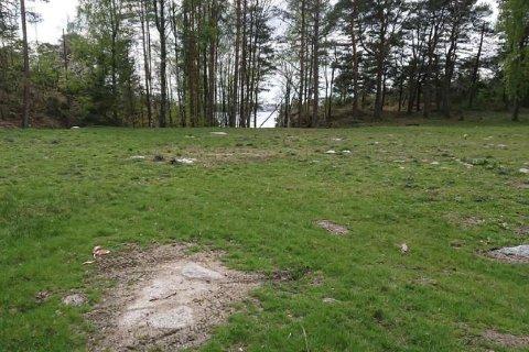AVDEKKET ULOVLIGHET: Saken gjelder ulovlige terrenginngrep på en slette på Risøya, og omfatter et område på rundt 3000 kvadratmeter. Det hele ble avdekket etter at hyttenaboer sendte bekymringsmelding til kommunen.