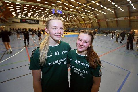 INGEN FINALE: Emma Tilda Siljan Mustvedt og Amalie Nikman Salvesen fikk ikke mulighet til å spille finale i Region sør cup.