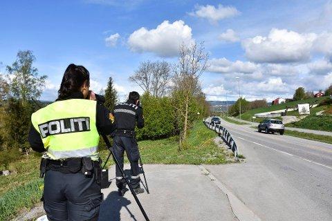 KJØRER FOR FORT: UP knep 820 fartssyndere i Telemark bare de to første månedene i år.